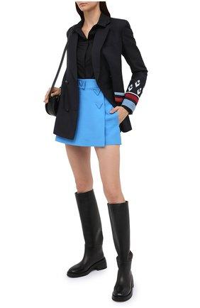Женская юбка-шорты VALENTINO голубого цвета, арт. UB3RA6N01CF | Фото 2