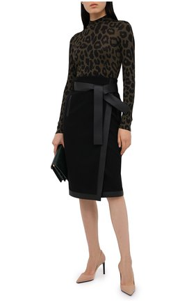 Женский шелковый пуловер TOM FORD хаки цвета, арт. MAK994-YAX263 | Фото 2