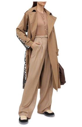 Женский кашемировый кардиган DOLCE & GABBANA бежевого цвета, арт. FX825T/JAW3F | Фото 2