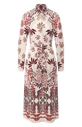 Женское шелковое платье LORO PIANA разноцветного цвета, арт. FAL3464 | Фото 1