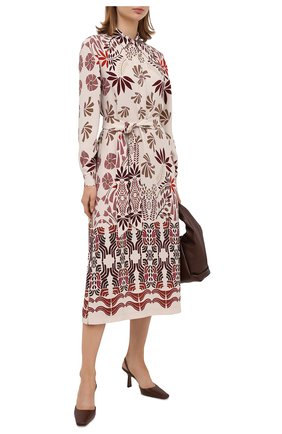 Женское шелковое платье LORO PIANA разноцветного цвета, арт. FAL3464 | Фото 2