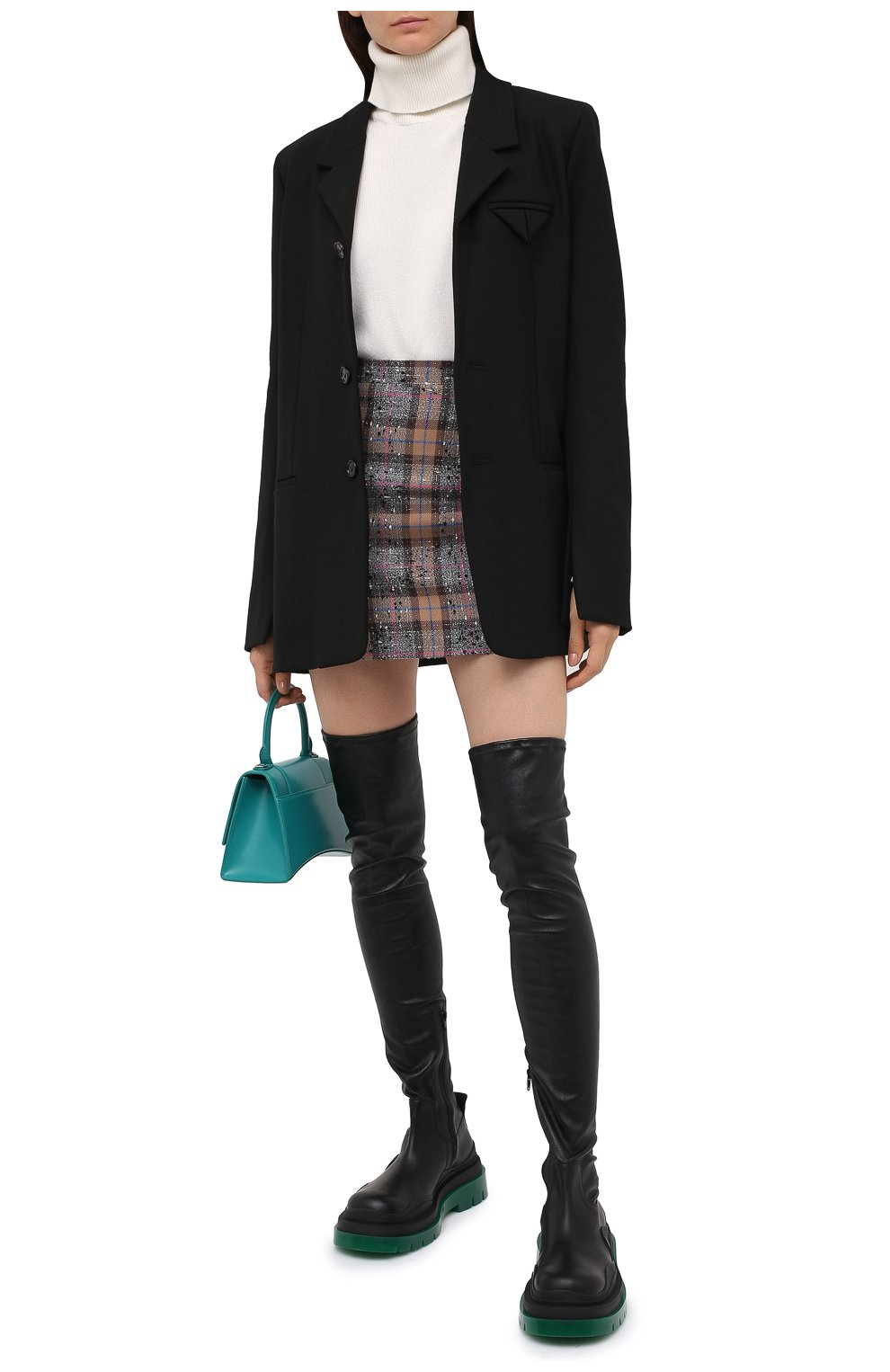 Женские кожаные ботфорты bv tire BOTTEGA VENETA черного цвета, арт. 630303/VBP71 | Фото 2 (Подошва: Платформа; Материал внутренний: Натуральная кожа; Каблук высота: Средний; Каблук тип: Устойчивый)