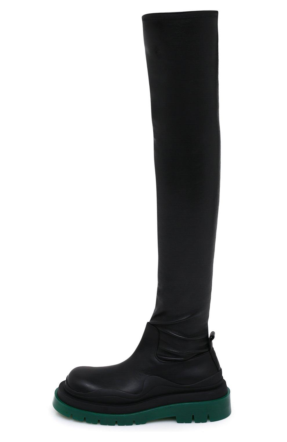 Женские кожаные ботфорты bv tire BOTTEGA VENETA черного цвета, арт. 630303/VBP71 | Фото 3 (Подошва: Платформа; Материал внутренний: Натуральная кожа; Каблук высота: Средний; Каблук тип: Устойчивый)