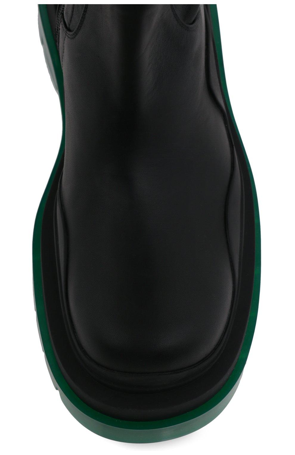 Женские кожаные ботфорты bv tire BOTTEGA VENETA черного цвета, арт. 630303/VBP71 | Фото 5 (Подошва: Платформа; Материал внутренний: Натуральная кожа; Каблук высота: Средний; Каблук тип: Устойчивый)