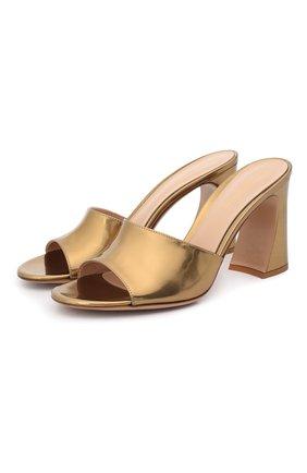 Женские кожаные мюли maudi GIANVITO ROSSI золотого цвета, арт. G18030.85RIC.METMEK0   Фото 1