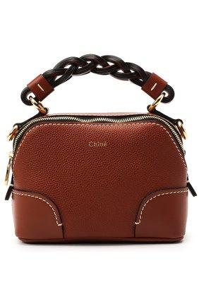 Женская сумка daria small CHLOÉ коричневого цвета, арт. CHC20WS362C62   Фото 1