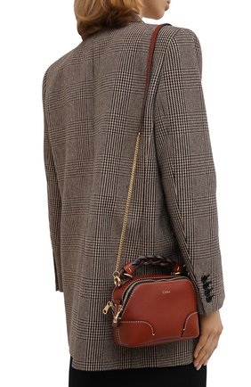 Женская сумка daria small CHLOÉ коричневого цвета, арт. CHC20WS362C62   Фото 2