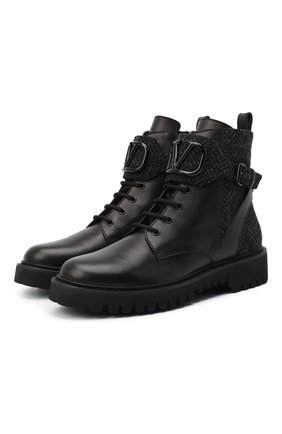 Кожаные ботинки Valentino Garavani Vlogo | Фото №1