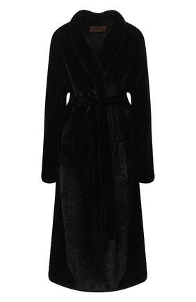 Женская шуба из меха норки YVES SALOMON черного цвета, арт. 7WYM75720VLVR/BLACK/50 | Фото 1