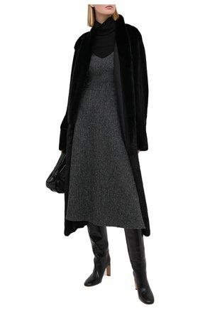 Женская шуба из меха норки YVES SALOMON черного цвета, арт. 7WYM75720VLVR/BLACK/50 | Фото 2