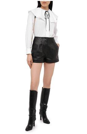 Женская хлопковая блузка ALEXANDRE VAUTHIER белого цвета, арт. 204SH1353 0192-1030   Фото 2