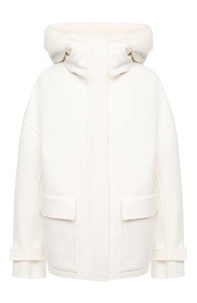 Женское кашемировое пальто KITON белого цвета, арт. D50684K05I38 | Фото 1