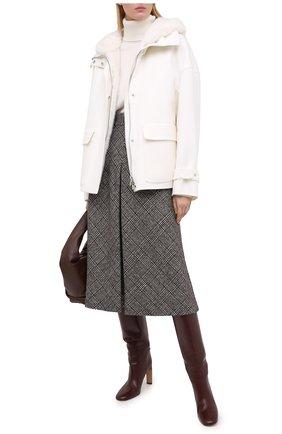 Женское кашемировое пальто KITON белого цвета, арт. D50684K05I38 | Фото 2