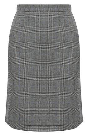 Женская шерстяная юбка ALEXANDER MCQUEEN серого цвета, арт. 631760/QJABH   Фото 1