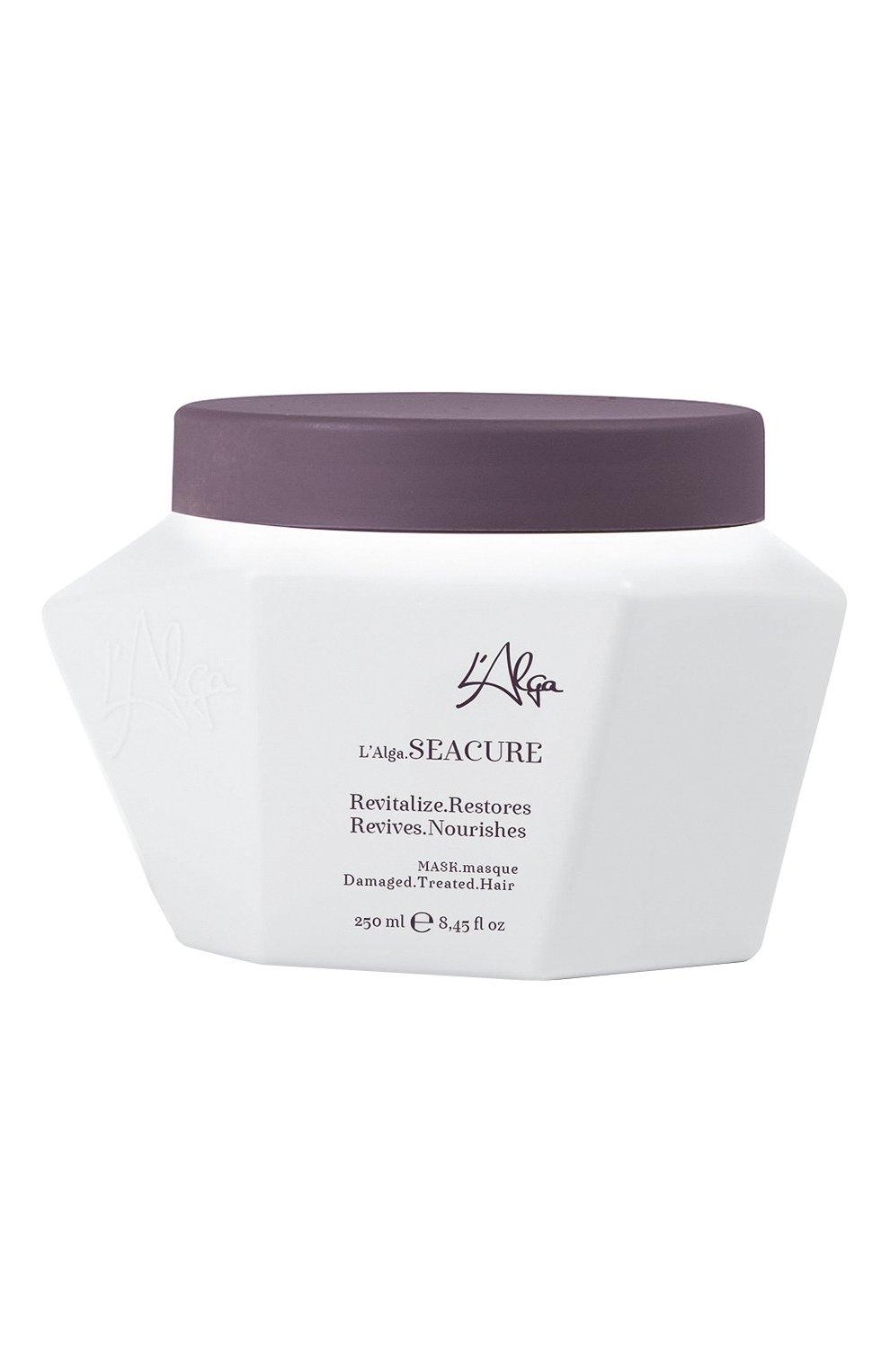 Восстанавливающая маска интенсивного действия для волос seacure (250ml) L'ALGA бесцветного цвета, арт. 5060558800083   Фото 1