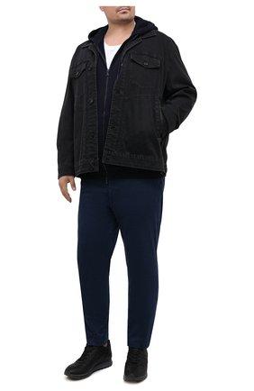 Мужская хлопковая толстовка PAUL&SHARK темно-синего цвета, арт. C0P1017/C00/3XL-6XL | Фото 2