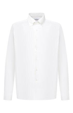 Мужская хлопковая сорочка SONRISA белого цвета, арт. IFJ7167/J133/47-51 | Фото 1 (Манжеты: На пуговицах; Воротник: Кент; Рукава: Длинные; Рубашки М: Regular Fit; Длина (для топов): Стандартные; Материал внешний: Хлопок; Стили: Классический; Случай: Формальный; Принт: Однотонные; Мужское Кросс-КТ: Сорочка-одежда)