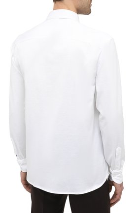 Мужская хлопковая сорочка SONRISA белого цвета, арт. IFJ7167/J133/47-51 | Фото 4 (Манжеты: На пуговицах; Воротник: Кент; Рукава: Длинные; Рубашки М: Regular Fit; Длина (для топов): Стандартные; Материал внешний: Хлопок; Стили: Классический; Случай: Формальный; Принт: Однотонные; Мужское Кросс-КТ: Сорочка-одежда)