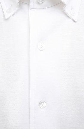 Мужская хлопковая сорочка SONRISA белого цвета, арт. IFJ7167/J133/47-51 | Фото 5 (Манжеты: На пуговицах; Воротник: Кент; Рукава: Длинные; Рубашки М: Regular Fit; Длина (для топов): Стандартные; Материал внешний: Хлопок; Стили: Классический; Случай: Формальный; Принт: Однотонные; Мужское Кросс-КТ: Сорочка-одежда)