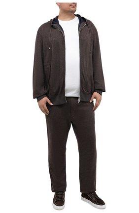 Мужская хлопковая футболка PAUL&SHARK белого цвета, арт. C0P1092/C00/3XL-6XL | Фото 2 (Материал внешний: Хлопок; Длина (для топов): Удлиненные; Рукава: Короткие; Мужское Кросс-КТ: Футболка-одежда; Стили: Кэжуэл; Принт: Без принта)