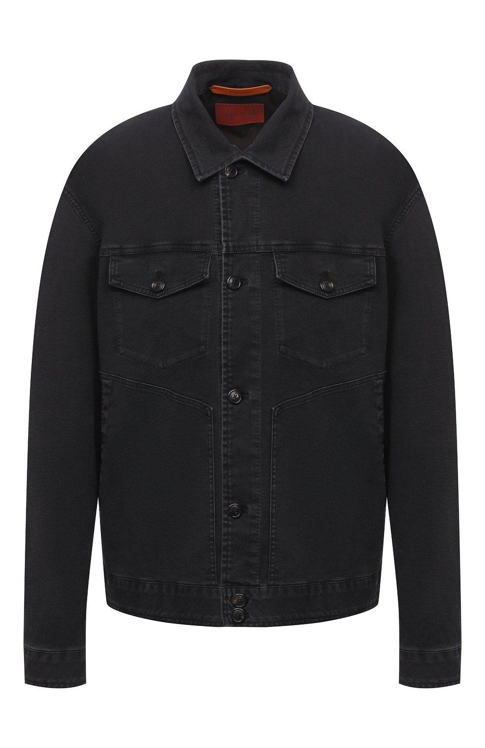 Мужская джинсовая куртка CORTIGIANI темно-серого цвета, арт. 918500/0070/6190/60-70 | Фото 1