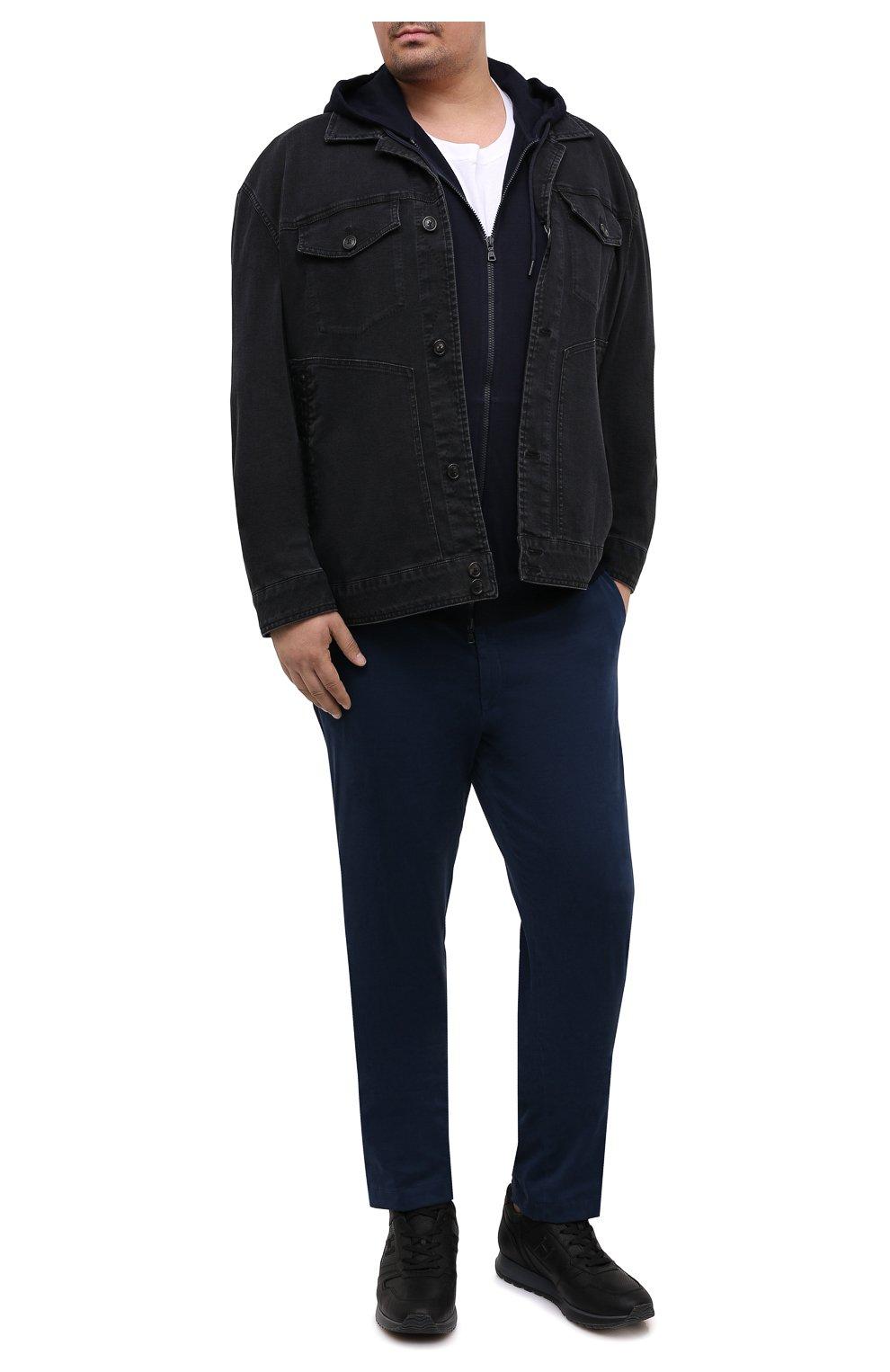 Мужская джинсовая куртка CORTIGIANI темно-серого цвета, арт. 918500/0070/6190/60-70 | Фото 2