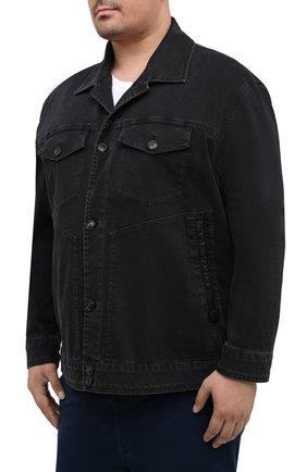 Мужская джинсовая куртка CORTIGIANI темно-серого цвета, арт. 918500/0070/6190/60-70 | Фото 3