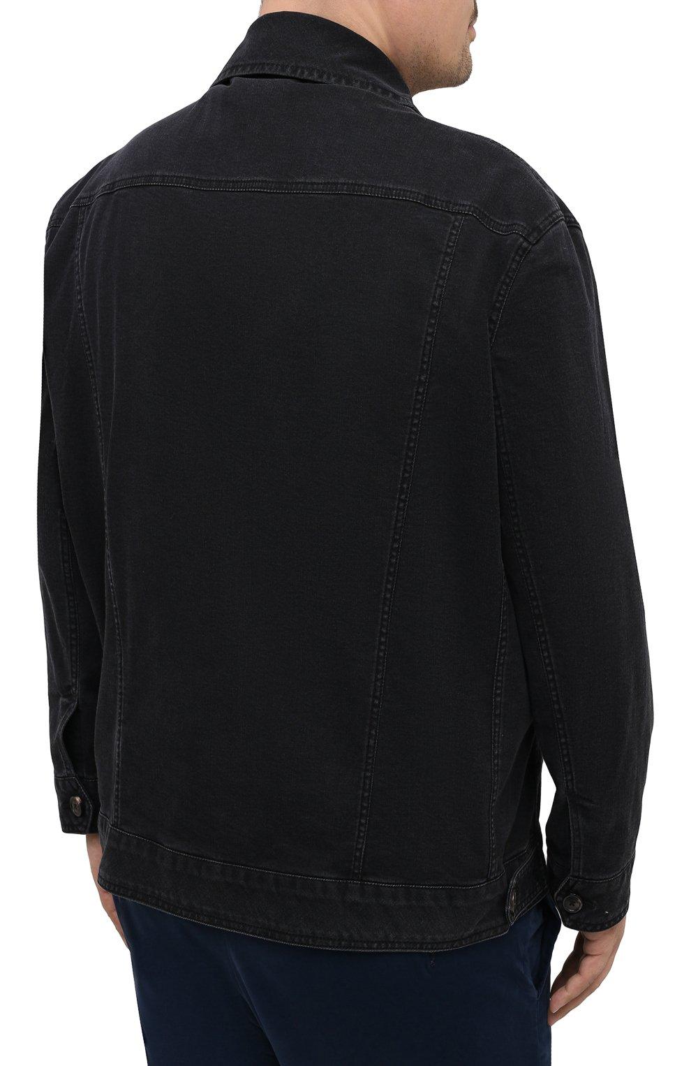 Мужская джинсовая куртка CORTIGIANI темно-серого цвета, арт. 918500/0070/6190/60-70 | Фото 4