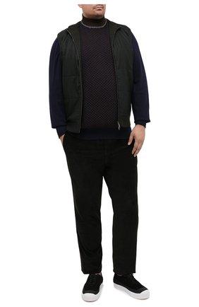 Мужской водолазка из шерсти и кашемира CORTIGIANI темно-синего цвета, арт. 919125/0200/60-70 | Фото 2