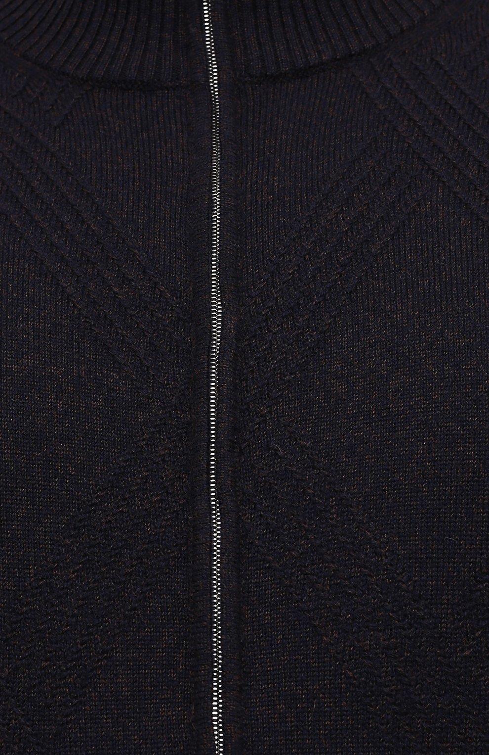 Мужской кашемировый кардиган CORTIGIANI синего цвета, арт. 919131/0000/60-70 | Фото 5 (Big sizes: Big Sizes; Материал внешний: Шерсть; Рукава: Длинные; Длина (для топов): Стандартные; Стили: Классический)