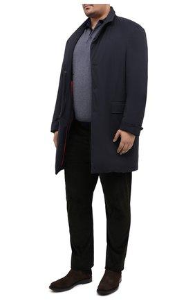 Мужское поло из кашемира и шелка KITON синего цвета, арт. UK1190/4XL-8XL | Фото 2