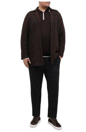 Мужское поло из кашемира и шелка KITON коричневого цвета, арт. UK1185/4XL-8XL | Фото 2