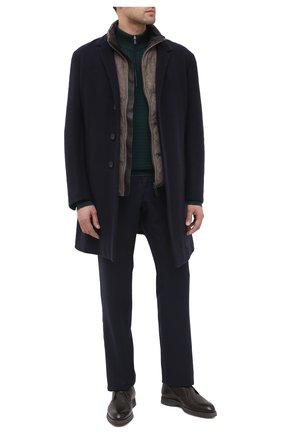 Мужские брюки из шерсти и кашемира ZILLI темно-синего цвета, арт. M0U-D0153-LACH1/R001 | Фото 2