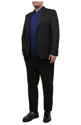 Мужское поло из кашемира и шелка ZILLI синего цвета, арт. MBU-PZ082-VAWA1/ML01 | Фото 2
