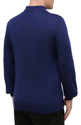 Мужское поло из кашемира и шелка ZILLI синего цвета, арт. MBU-PZ082-VAWA1/ML01 | Фото 4