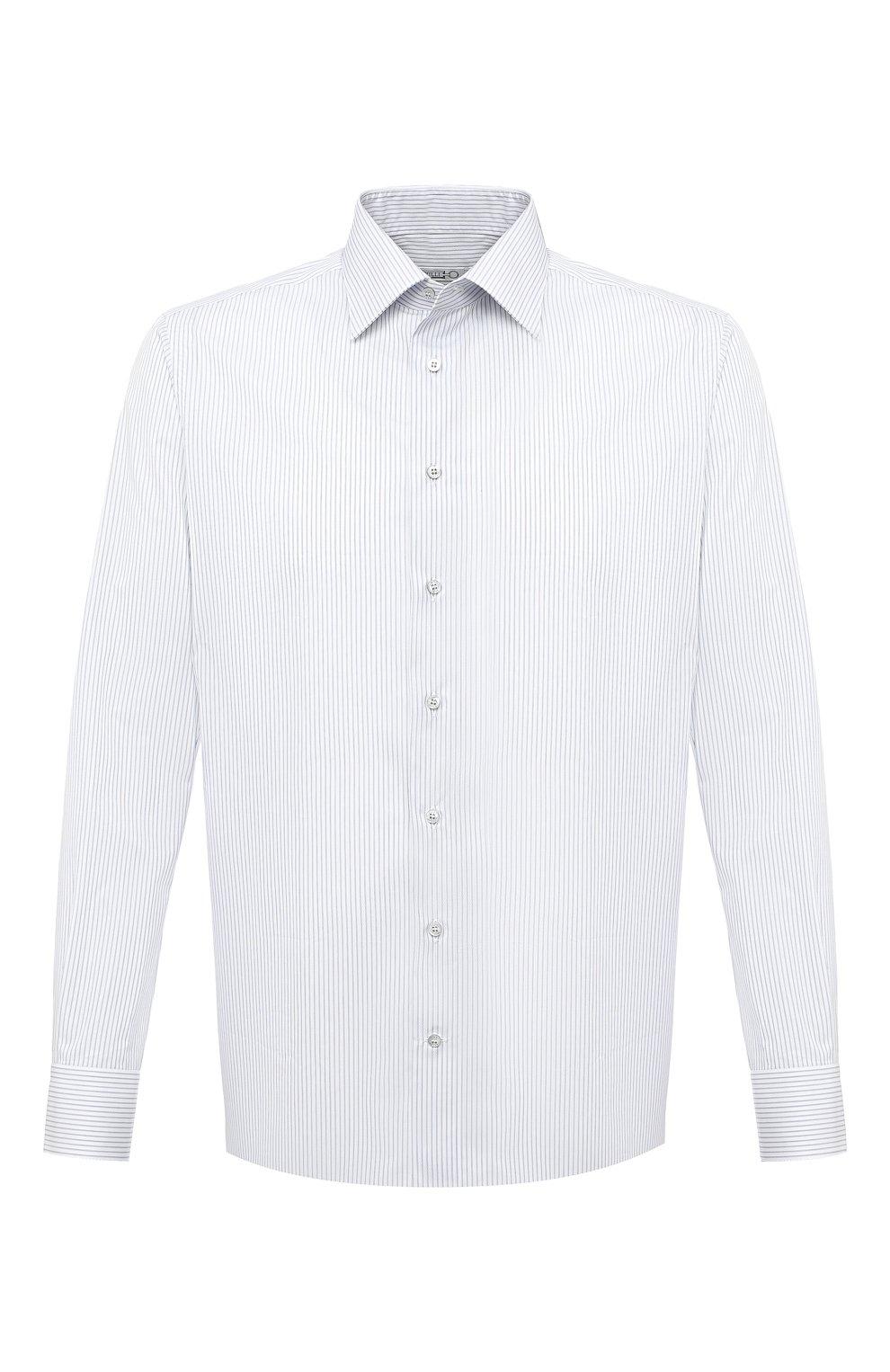 Мужская хлопковая сорочка ZILLI белого цвета, арт. MFU-1803-1118/0002 | Фото 1
