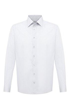 Мужская хлопковая сорочка ZILLI белого цвета, арт. MFU-1803-1216/0003 | Фото 1