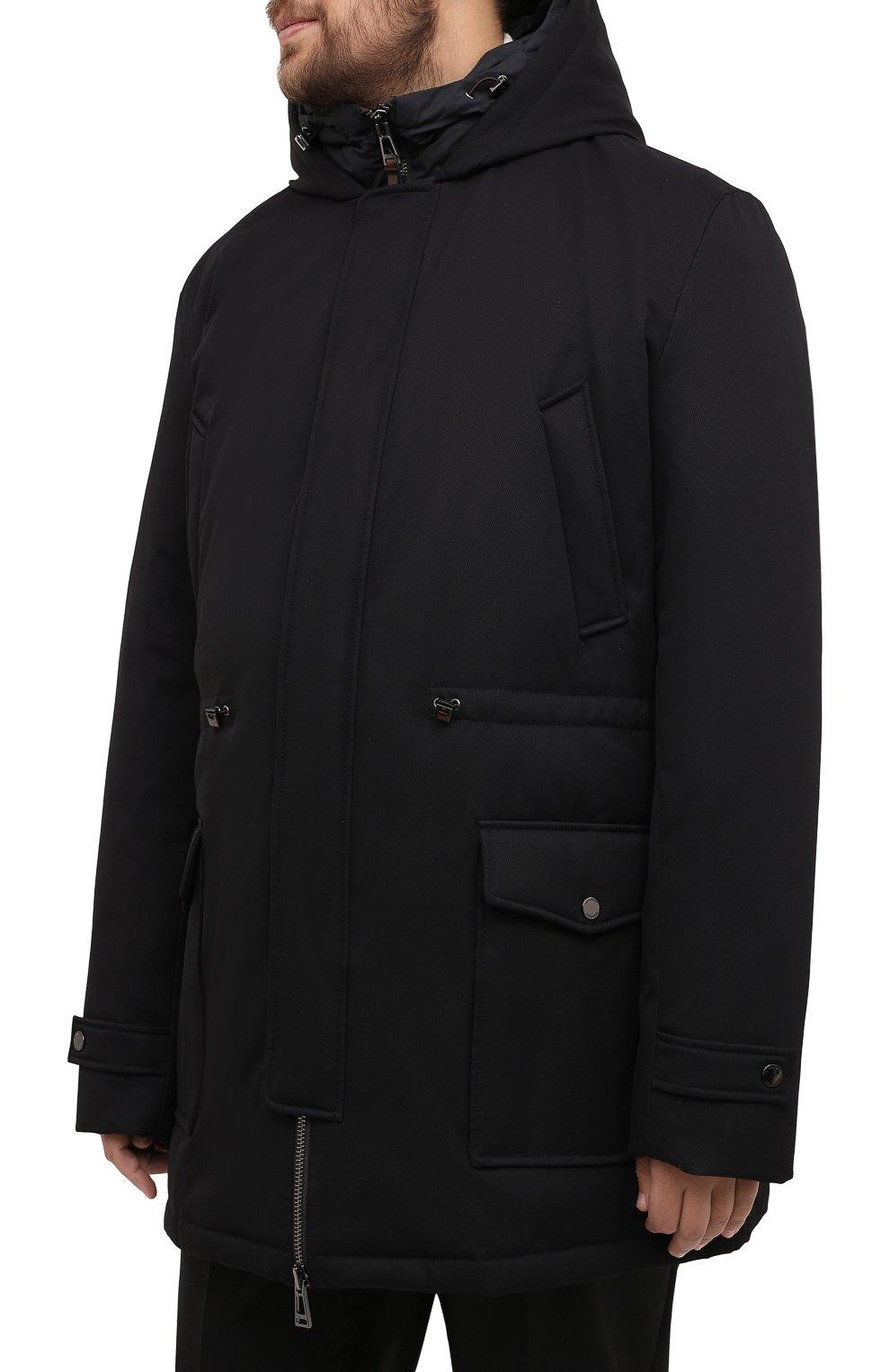Мужская пуховик WINDSOR черного цвета, арт. 13 ARTIDE1-N-U 10005635/60-66 | Фото 3