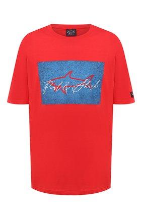Мужская хлопковая футболка PAUL&SHARK красного цвета, арт. A20P1694/C00/3XL-6XL | Фото 1