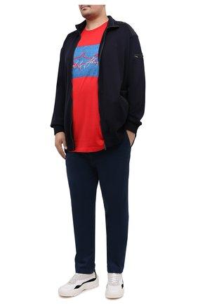 Мужская хлопковая футболка PAUL&SHARK красного цвета, арт. A20P1694/C00/3XL-6XL | Фото 2