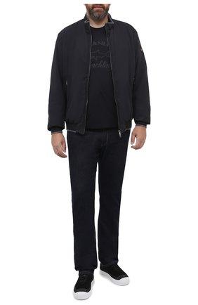 Мужской утепленный бомбер PAUL&SHARK черного цвета, арт. I20P2150/GHS/3XL-6XL | Фото 2