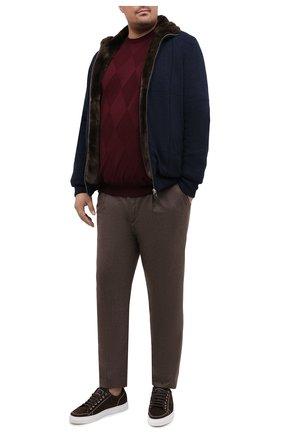 Мужской шерстяной джемпер PAUL&SHARK бордового цвета, арт. I20P1074/FLV/3XL-6XL | Фото 2