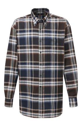 Мужская хлопковая рубашка PAUL&SHARK коричневого цвета, арт. I20P3056/C00 | Фото 1