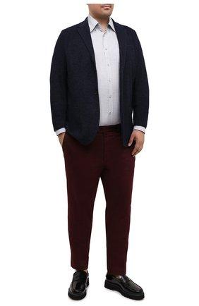 Мужская хлопковая рубашка PAUL&SHARK серого цвета, арт. I20P3064/C00 | Фото 2 (Материал внешний: Хлопок; Рукава: Длинные; Случай: Повседневный; Стили: Кэжуэл; Рубашки М: Regular Fit)