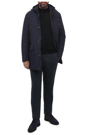 Мужской шерстяной джемпер CORTIGIANI черного цвета, арт. 919617/0200/60-70 | Фото 2