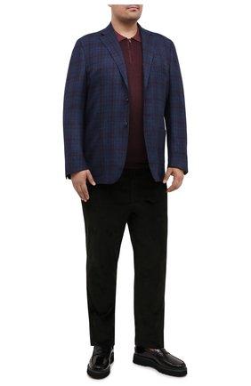 Мужской шерстяной пиджак LUCIANO BARBERA темно-синего цвета, арт. 111P25/25042/58-62 | Фото 2