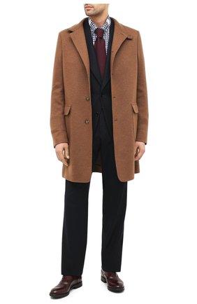 Мужские кожаные оксфорды W.GIBBS бордового цвета, арт. 0337003/2280   Фото 2