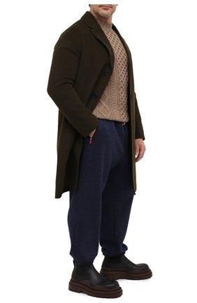 Мужской кашемировые джоггеры KITON темно-синего цвета, арт. UFP1LACK01T20/42-52 | Фото 2