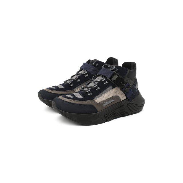 Комбинированные кроссовки Giorgio Armani