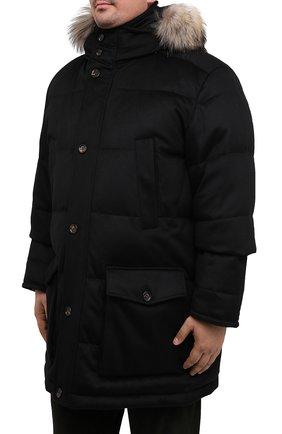 Мужская пуховик KIRED черного цвета, арт. WANIEW6818022000/62-72 | Фото 3